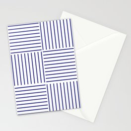 Minimal Blue Stripes #society6 #decor #buyart Stationery Cards