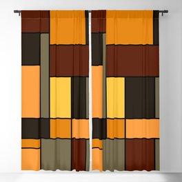 Mondrian Autumn Blackout Curtain