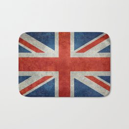 "English Flag ""Union Jack"" bright retro 3:5 Scale Bath Mat"