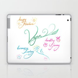 Vegan & happy lifestyle Laptop & iPad Skin
