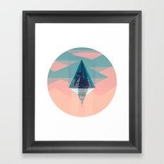 Enlightened Mountain Framed Art Print