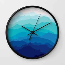 Blue Mist Mountains Wall Clock
