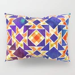 Multicolor Pattern, Including: Cerulein, Electric Violet, Mountain Meadow, Persian Blue + See Below Pillow Sham