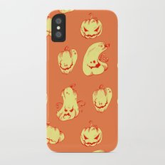 Crazy Pumpkin Party iPhone X Slim Case