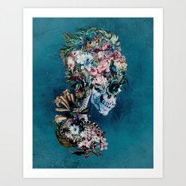 Floral Skull RP Art Print