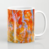 Abstract with Circle in Gold, Red, and Blue Mug