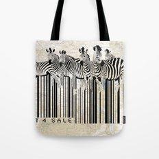 Zebra Barcode Tote Bag