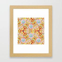 Pink Paisley Hexagons Framed Art Print