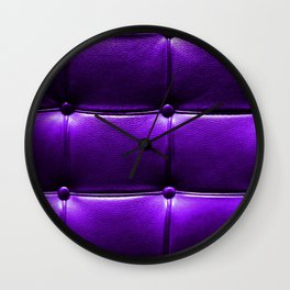 Leather Couch Ultra Violet Wall Clock