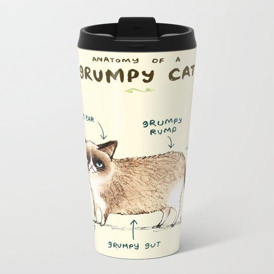 Anatomy of a Grumpy Kitty Metal Travel Mug