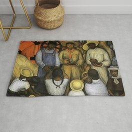 """""""Triumph of the Revolution"""" by Diego Rivera Rug"""