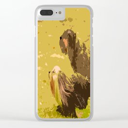 Dog's Running Race Clear iPhone Case