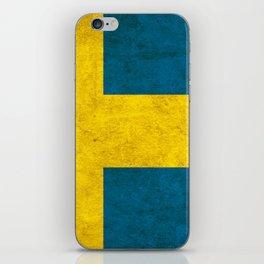 Sweden flag, circle iPhone Skin