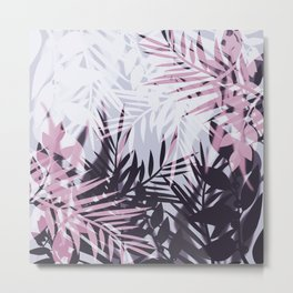 Pink gray tropical background Metal Print
