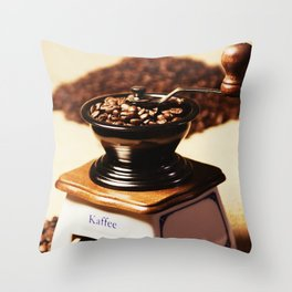 coffee grinder 4 Throw Pillow