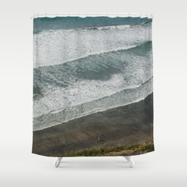 Waves on the Beach Shower Curtain