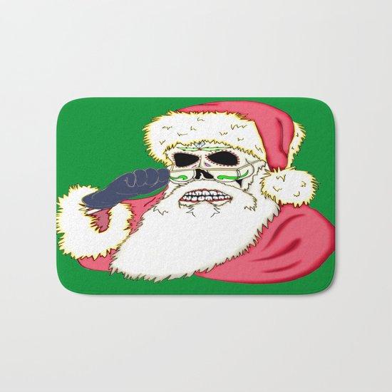 Bad Santa Sugar Skull Bath Mat