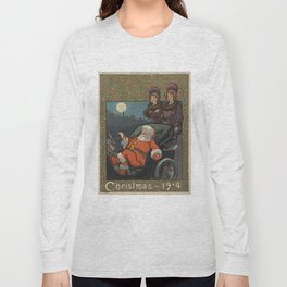 Vintage Santa Claus Preparing on Christmas Eve (1904) Long Sleeve T-shirt