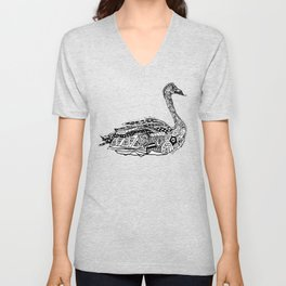 Dragon Swan  Unisex V-Neck
