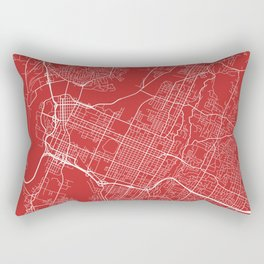 Chattanooga Map, USA - Red Rectangular Pillow