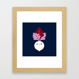 Cute white beetroots Framed Art Print