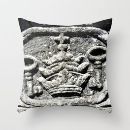 Ancient Church Carvings Throw Pillow