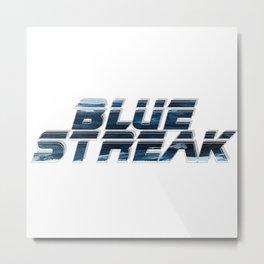 Blue Streak Metal Print