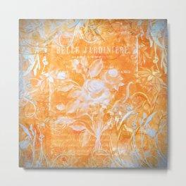 French Twist Orange Metal Print