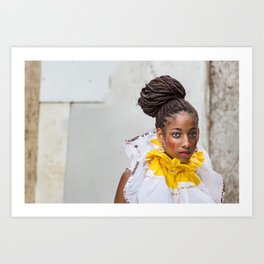 Brazilian woman at Carnival in Salvador Bahia, Brazil. Art Print
