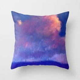 Sky Roses Throw Pillow