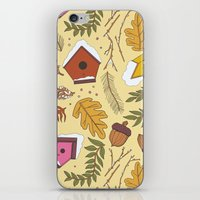 70s iPhone & iPod Skins featuring 70s Woodland by Aron Gelineau