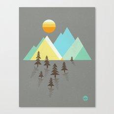 Asphalt Sun Canvas Print