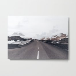 Arid Winter Way Metal Print