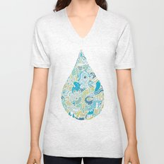 If heaven were a drop of rain Unisex V-Neck