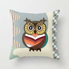 The Wise Owl Throw Pillow