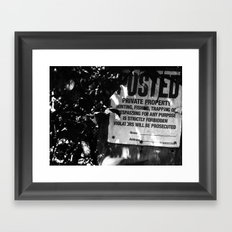 Trespassing Framed Art Print