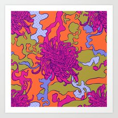 Japan chrysanthemum flower Art Print