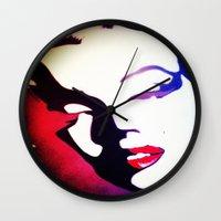 monroe Wall Clocks featuring monroe  by Joedunnz