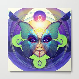 Butterfly Face Metal Print