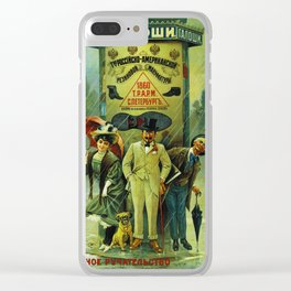 Vintage Russian Galoshes Advertisement Clear iPhone Case