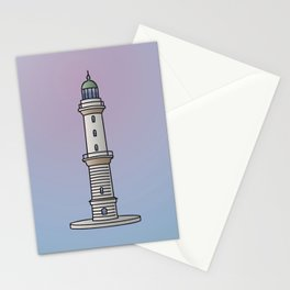 Lighthouse Warnemünde Rostock Stationery Cards