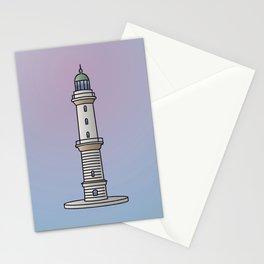 Lighthouse Warnemünde Rostock Stationery Cards