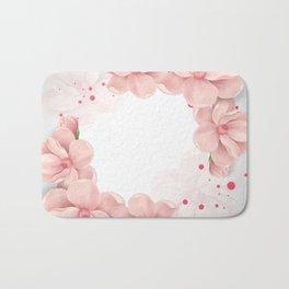 Flower crown Bath Mat