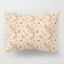 Autumn squirrels and butterflies Pillow Sham