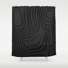 Organic Abstract 01 BLACK Shower Curtain