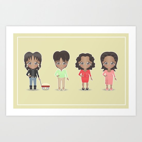 Oprah Art Print