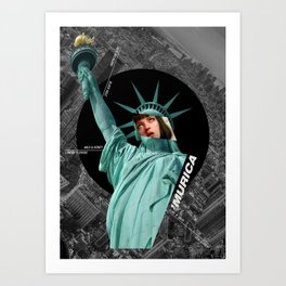 America is a black hole Art Print