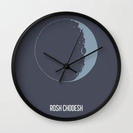 Rosh Chodesh Jewish Moon Calendar Art Wall Clock