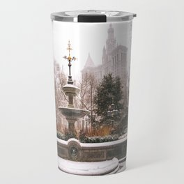 Winter in New York City Travel Mug