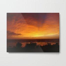 Sunset in Vanuatu Metal Print